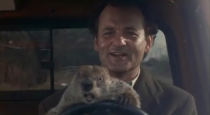groundhog day with the unquestionable cool bill murray