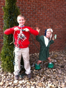Justin and Reece as Clark and Cousin Eddie